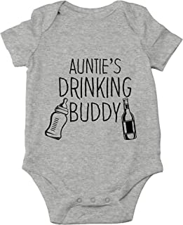 AW Fashions Auntie's Drinking Buddy - I Have The Best Aunt in The World - Cute One-Piece Infant Baby Bodysuit