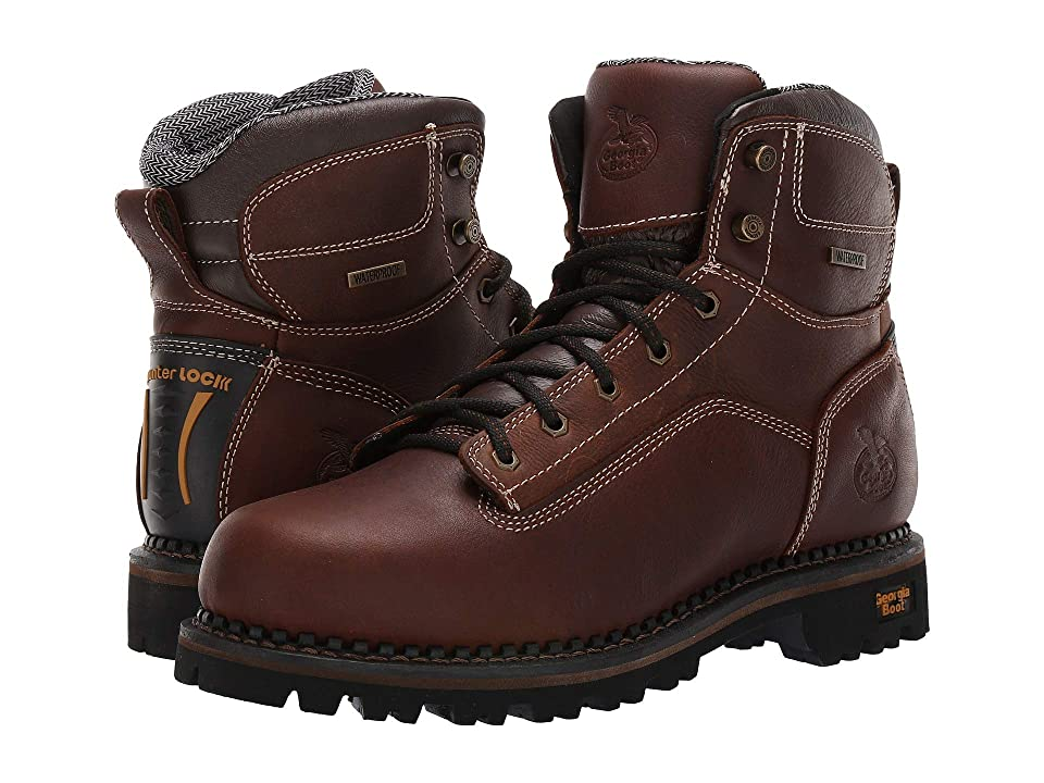 Georgia Boot Low Heel Logger 6 (Dark Brown) Men