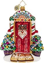 Christopher Radko Hand-Crafted European Glass Christmas Decorative Figural Ornament, Sweet Home Door Decor!