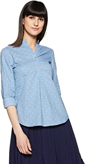 Styleville.in  Women's semi formal shirt with roll sleeve