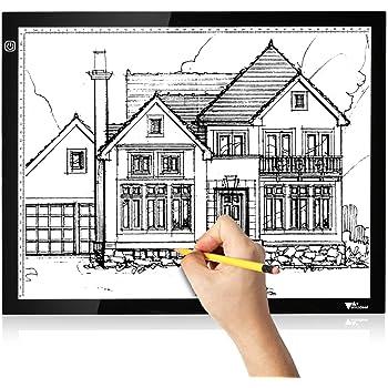Amzdeal Mesa de Luz Dibujo A3, Tablero de Luz con Brillo Ajustable, Tableta de Luz de Carga USB para Trazar Dibujos, Dibujo, Animación: Amazon.es: Hogar