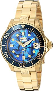 Invicta Women's Pro Diver Automatic-self-Wind Diving Watch with Stainless-Steel Strap, Gold, 7 (Model: 23987)