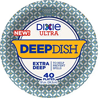 Dixie Ultra Extra Deep Dish Paper Plates, Count of 40