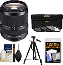 Sony Alpha A-Mount 18-135mm f/3.5-5.6 ED SAM Zoom Lens with 3 Filters + Tripod + Kit for A37, A58, A65, A68, A77 II, A99 Cameras
