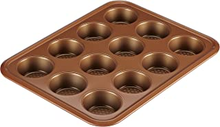 Ayesha Curry 47002 Nonstick Bakeware Nonstick 12-Cup Muffin Tin / Nonstick 12-Cup Cupcake Tin - 12 Cup, Brown