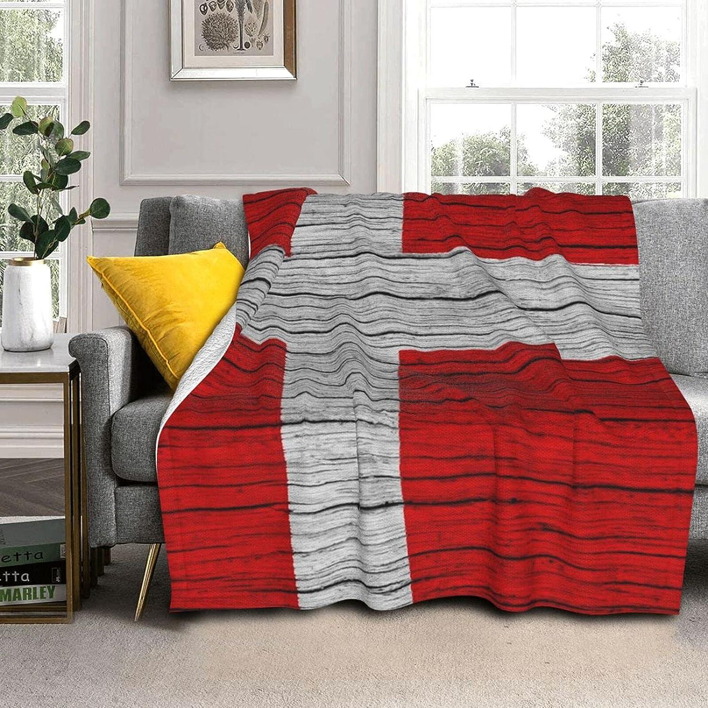 Wooden Texture Danish Denmark Luxury Max 42% OFF Flag Blanket Warm Super Wool Lamb