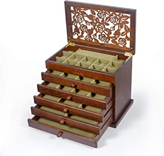 Kendal Wood/Wooden Jewelry Box Case (Dark Brown)