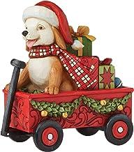 Enesco Jim Shore Country Living Dog in Wagon Figurine, 5.55 H, Multicolor
