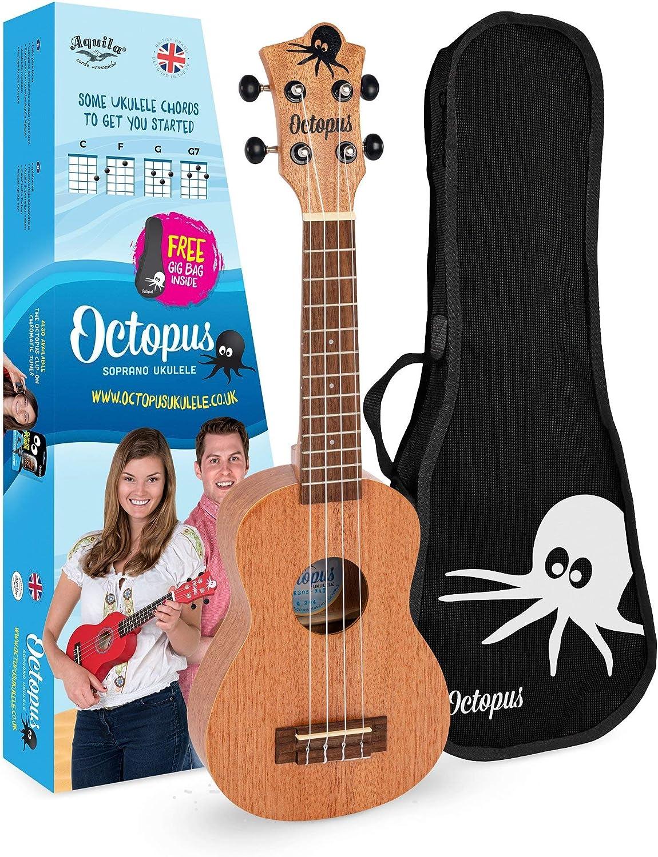 Selling rankings Octopus Soprano ukulele Ambidextrous UK205 Natural Full Ranking TOP11