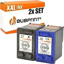 Bubprint Cartuchos de impresora compatible con HP 27+ 28HP DeskJet 3320332534203425352035353550364536473650374538455650565256555850Officejet 42124215421942524255, 6110, PSC 1210, 1213, 1215, 1217, 1219, 1311, 1312, 1315, 1317