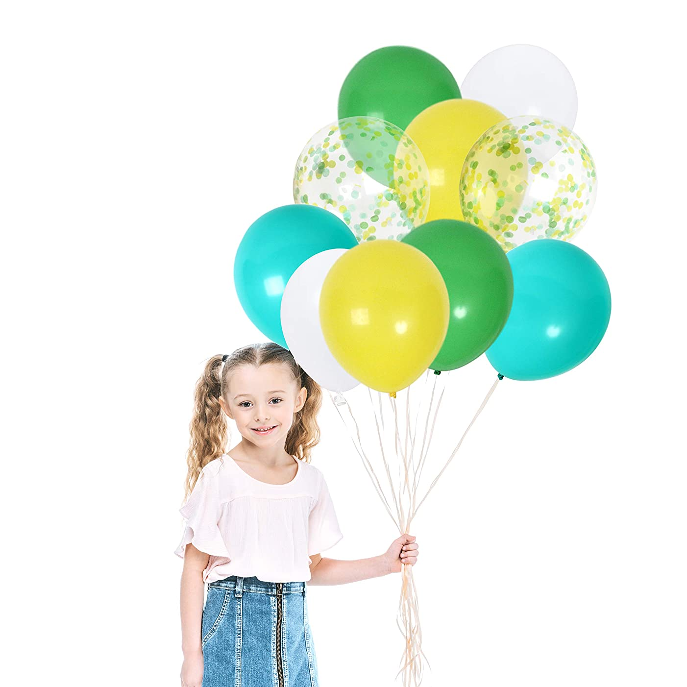 Treasures Gifted Jungle Theme Party Supplies Italian Soccer Dinosaur Birthday Green Baby Shower Decorations Latex Balloons for Bee Themed Sunshine Gender Neutral Decor