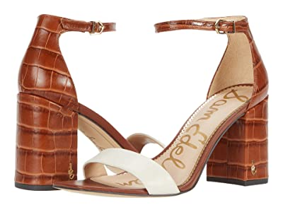 Sam Edelman Daniella (Ivory/Tawny Brown Butter Nappa Leather/Cairo Large Croco Leather) Women