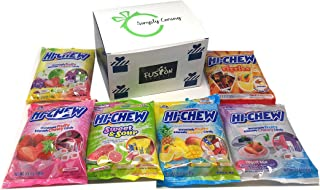 Hi Chew Candy 6 Flavor Variety Pack Bundle (NEW! 2019 Sweet & Sour, Tropical, Fizzies, Yogurt Mix, Strawberry, Original Mix) in Fusion Select Gift Box