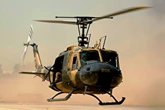 Home Comforts Cropped Image of an Iraqi air Force UH-1H II Huey Helicopter Vivid Imagery Laminated Poster Print 24 x 36