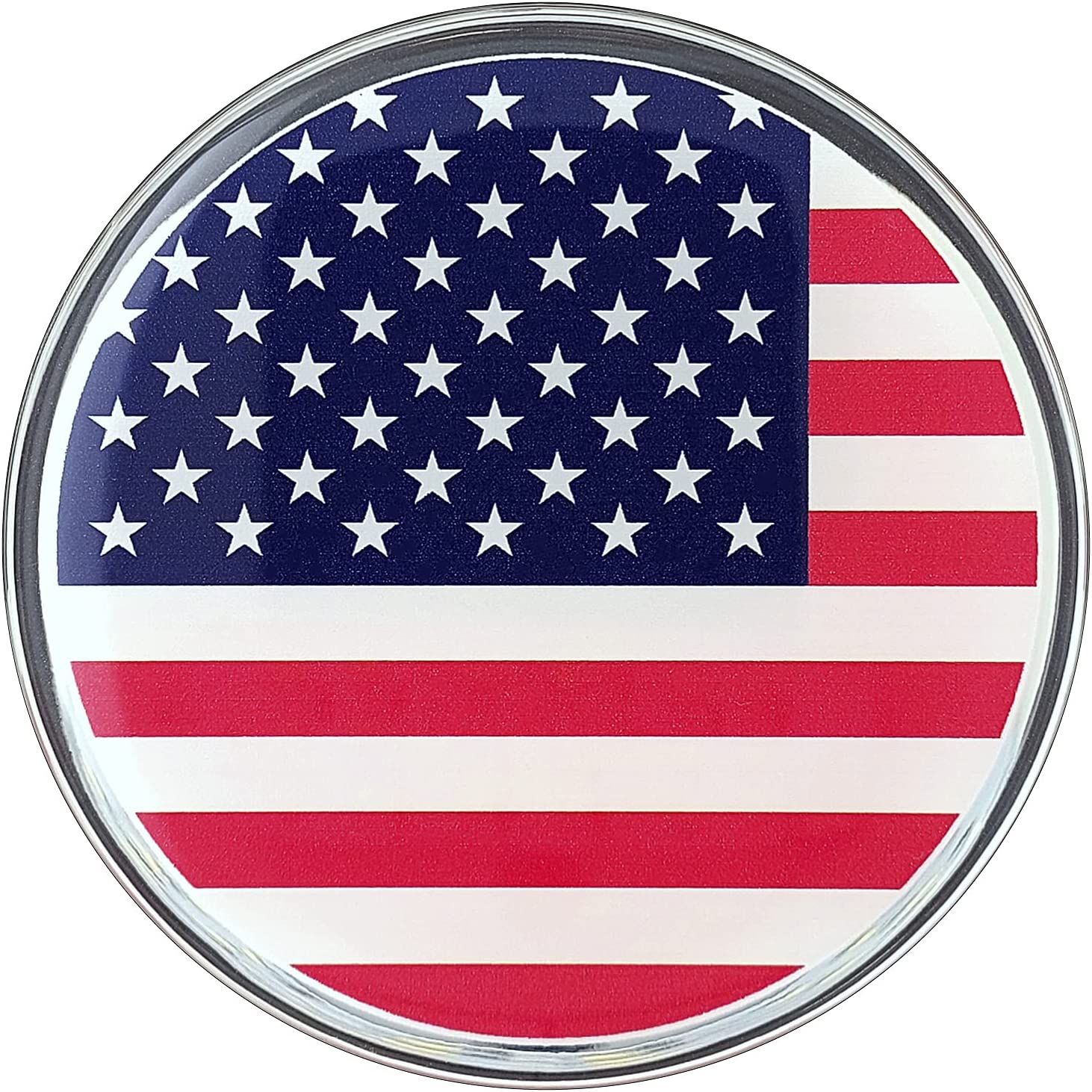 Fan Emblems World and US State Flags Car Decal (3