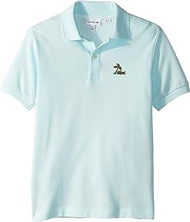 sale retailer ba1f6 c16ce Lacoste Kids L1812 Short Sleeve Classic Pique Polo (Toddler ...