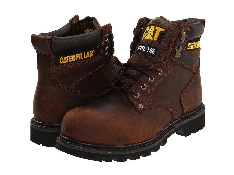 Caterpillar 2nd Shift Steel Toe (Dark Brown Leather) Men