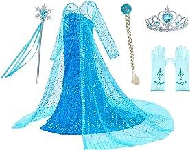Ragazze Disney congelato Musical accendono Elsa Principessa Natale Costume
