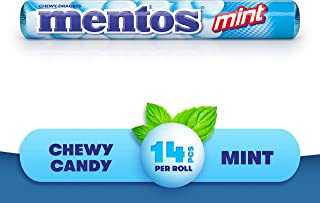 Mentos SAY HELLO Chewy Candy - Mint Flavor – Different ways to say hello - 14-piece Rolls (Multipack of 20 Rolls)