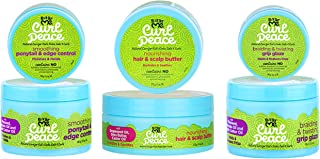 Just For Me Curl Peace Hair Products Combo (EDGE CONTROL, SCALP BUTTER & GRIP GLAZE)