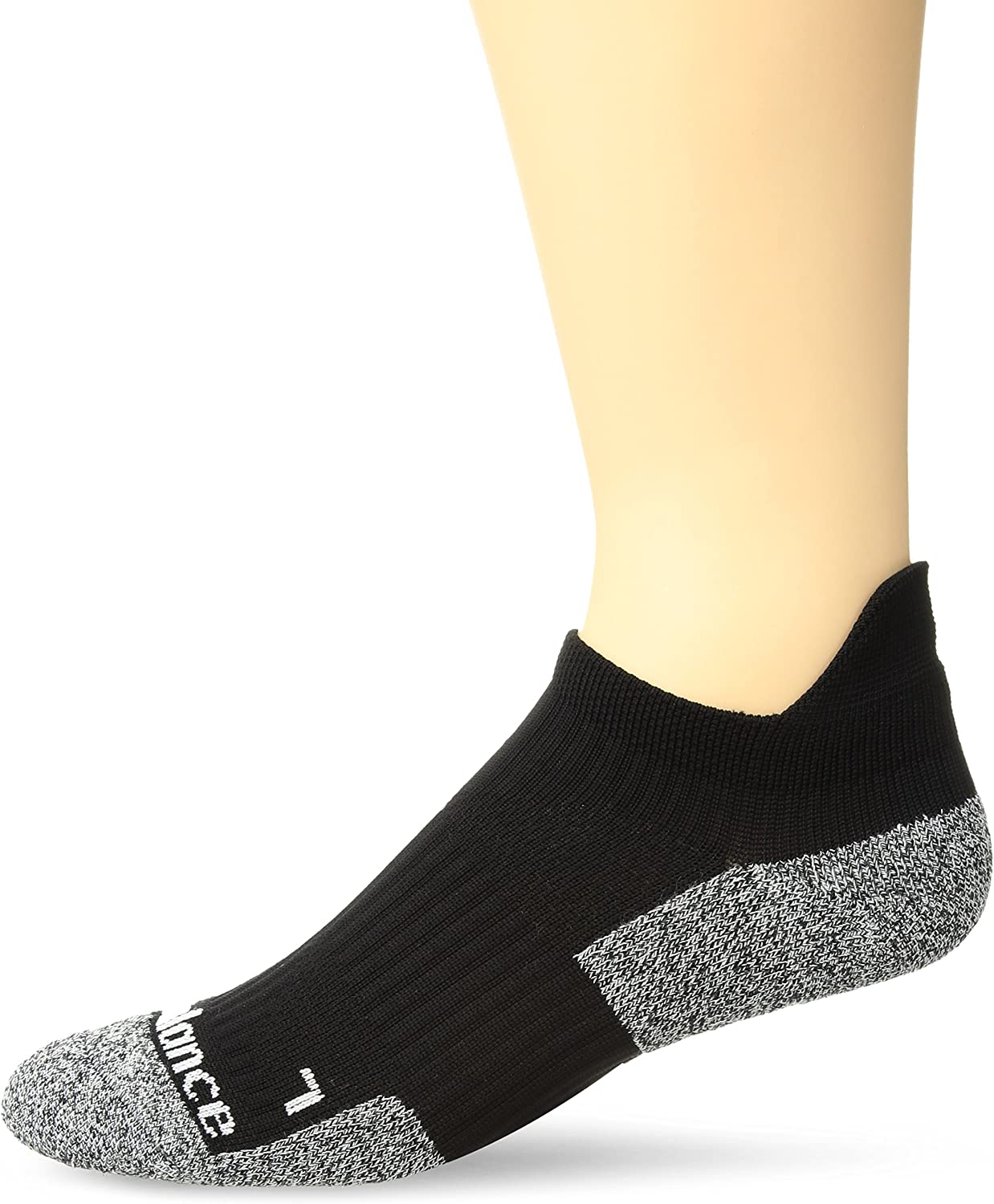 New Balance Cushioned Running No Show Tab Socks (1ペア) L