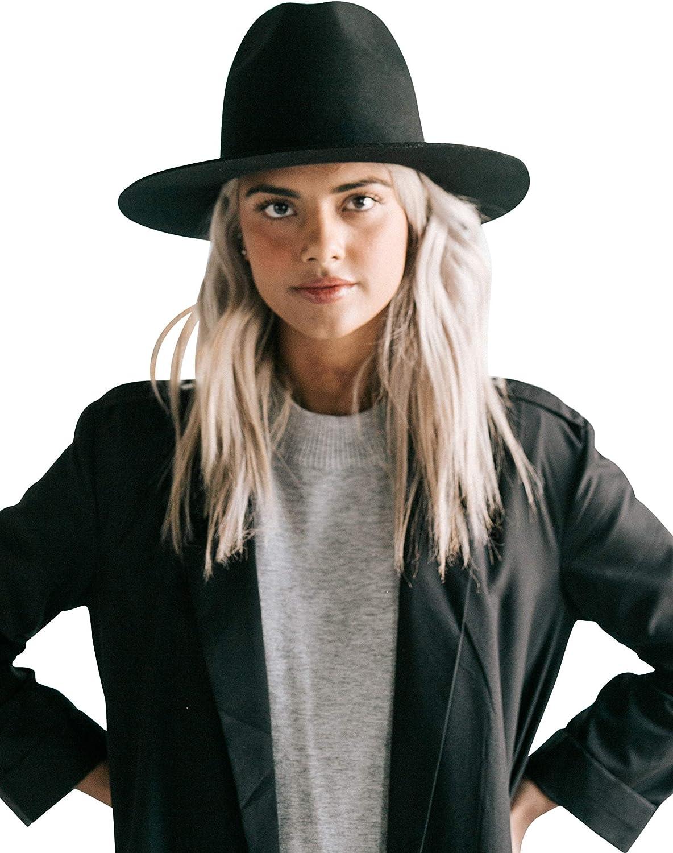Gigi Pip Billie Tall Fedora Hat for Women, 100% Australian Wool Felt Hat, Fashion Hats for Fall, Winter, Spring and Summer