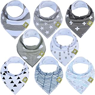 Baby Bandana Drool Bibs – Bandana Bibs for Boys, Girls by KeaBabies- Super..