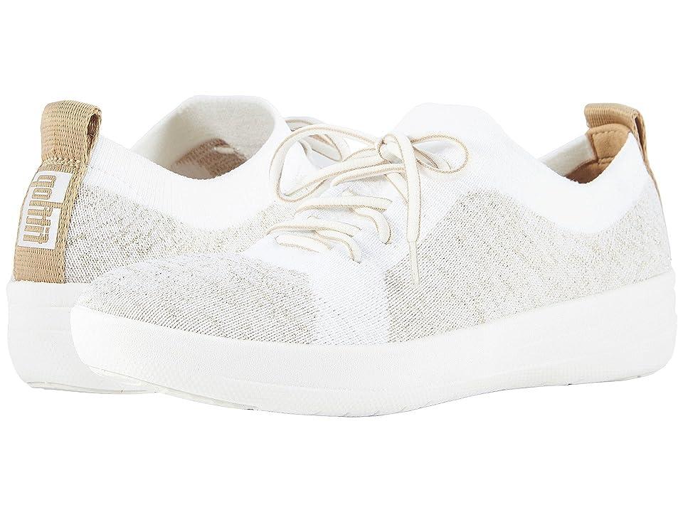 FitFlop F-Sporty Uberknit Sneakers (Metallic Gold/Urban White) Women
