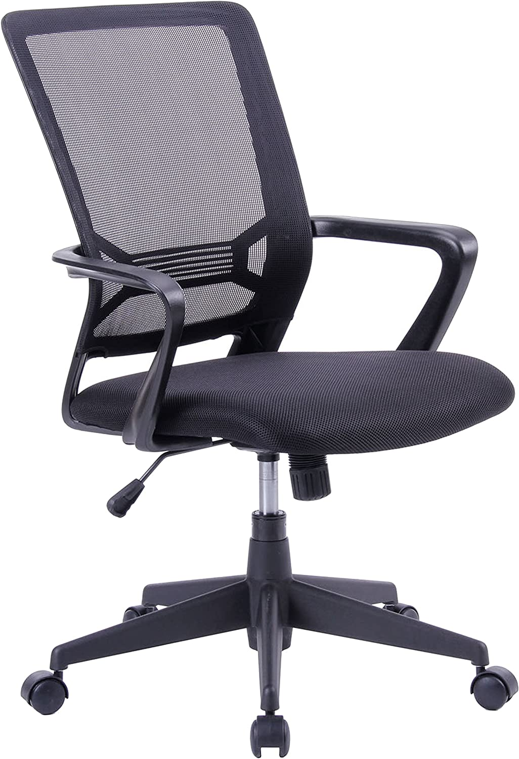 Porthos Home MKC008A BLK Angelina Adjustable Office Chair Black