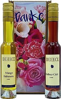 Geschenkset Liköre DANKE Erdbeer Chili und Mango Habanero Likör