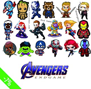H2 Studio Decal Funny Chibi Avengers Sticker of Endgame, Marvel. Thanos, Ironman, Captain America, Thor. Sticker Scrapbooking Car Luggage Laptop Skateboard Phone Guitar Motorcycle New Version