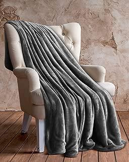 Utopia Bedding Vellón Manta (Gris, 127 x 152 cm) - Tejido