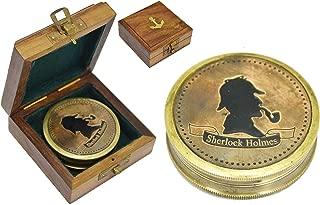 Brass Nautical - Premium Gift Sherlock Holmes Compass Gift Compass Vintage Replica