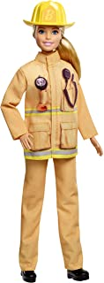 Barbie Firefighter Doll, Blonde, Wearing Firefighter Uniform and Hat