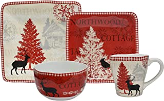 Northwood Cottage Mixed 16 Piece Dinnerware Set
