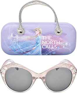 Frozen II Disney Frozen 2 Girls Sunglasses with Carrying Case, Kids Sunglasses Protection