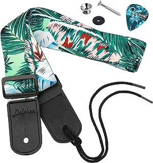 Dulphee Ukulele Strap Hawaiian Style Shoulder Strap Adjustable Ukulele straps for Soprano Concert Tenor Baritone Strings Instruments(Palm)