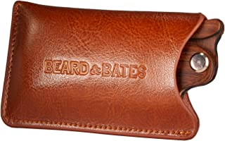 Beard & Bates | Genuine Leather Pouch - for The Sandalwood Switchblade | Protective Accessory Case for Foldable Wooden Comb