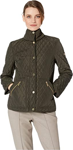 Snap Front Short Quilt M422355GZ
