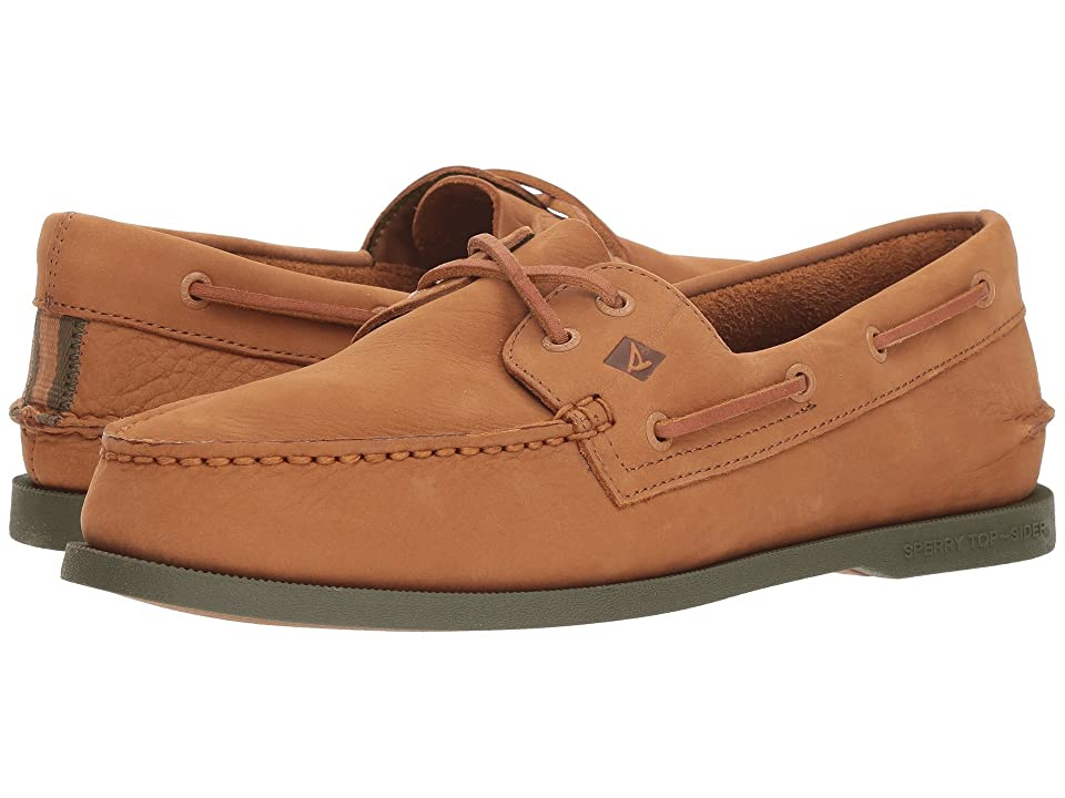 Sperry A/O 2-Eye Washable (Tan/Olive) Men