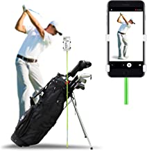 SelfieGOLF Golf Swing Phone Holder - Selfie Putting Training Aids - Golf Analyzer Accessories   Winner of The PGA Best Product   Works with Any Smart Phone and Alignment Sticks