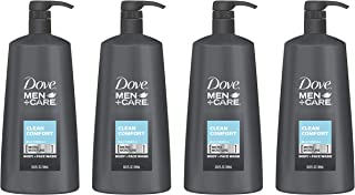 Dove Men+Care Body Wash Pump, Clean Comfort, 23.5 Ounce (Pack of 4)