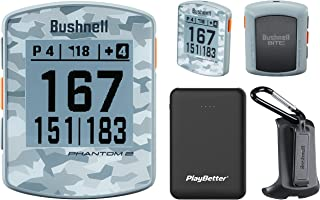 $139 » Bushnell Phantom 2 (Gray Camo) Handheld Golf GPS Power Bundle | Includes PlayBetter Portable Charger | 2021 Golf GPS Devic...