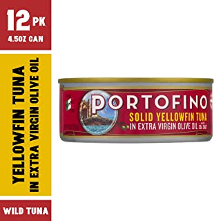 Portofino Solid Yellowfin Tuna In Extra Virgin Olive Oil - 4.5oz Can (Pack of 12)