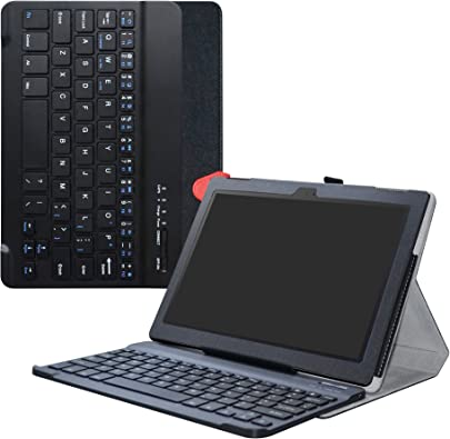 LiuShan Lenovo Tab4 10 Bluetooth Keyboard h lle  Abnehmbare Bluetooth Tastatur  QWERTY  englisches Layout  h lle mit St nder f r Lenovo Tab 10 2017 Android Tablet Schwarz