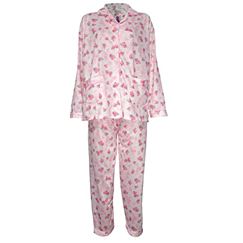 7ea820fa2ed Womens Pyjamas Flower Print Pjs Night Suit Nighty Cotton Revere Collar 8-20