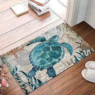 Watercolor Sea Turtles Door Mat Indoor Outdoor Non-slip Rubber Entrance Mats Rugs for Bathroom/Front Doormat(Ocean Animal)