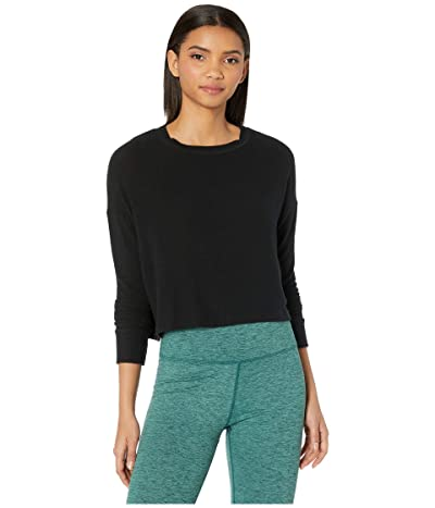 Beyond Yoga Brushed Up Cropped Pullover (Black) Women