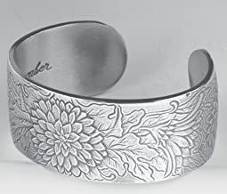 Pewter Flower of The Month Bracelet - Nov