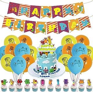 Numberblocks Party Supplies,Numberblocks Birthday Party Decorations,NumberblocksTheme Birthday Party Suppliers for Kid's B...